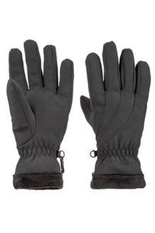Wm's Fuzzy Wuzzy Glove, Black, medium