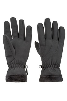 Women's Fuzzy Wuzzy Gloves, Black, medium