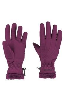 Women's Fuzzy Wuzzy Gloves, Dark Purple, medium
