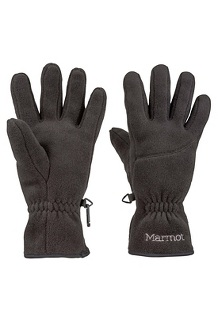 Wm's Fleece Glove, Black, medium