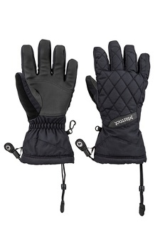 Women's Moraine Gloves, Black, medium