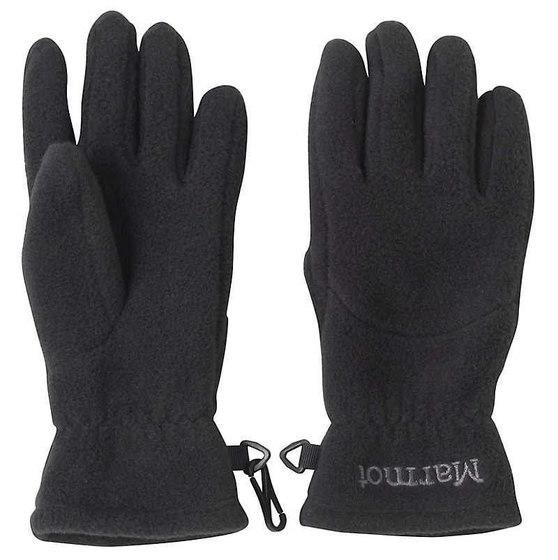 Kid's Fleece Glove, Black, large