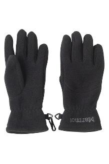 Kid's Fleece Glove, Black, medium