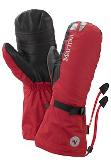 Men's 8000 Meter Mitts, Team Red, medium