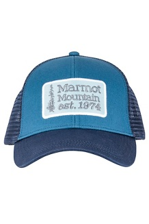 Men's Retro Trucker Hat, Moroccan Blue/Arctic Navy, medium
