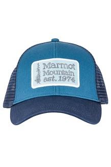 Men's Retro Trucker Hat, Moroccan Blue/Arctic Navy, medium