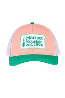 Men's Retro Trucker Hat, Coral Pink/Verde, medium