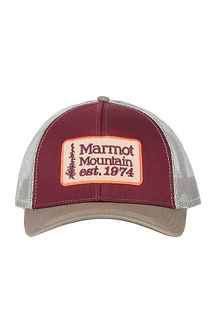 Men's Retro Trucker Hat, Burgundy/Cavern, medium