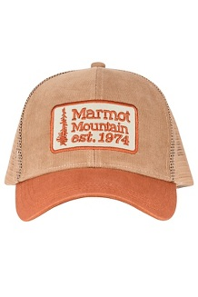 Men's Retro Trucker Hat, Desert Khaki Corduroy/Terracotta Corduroy, medium