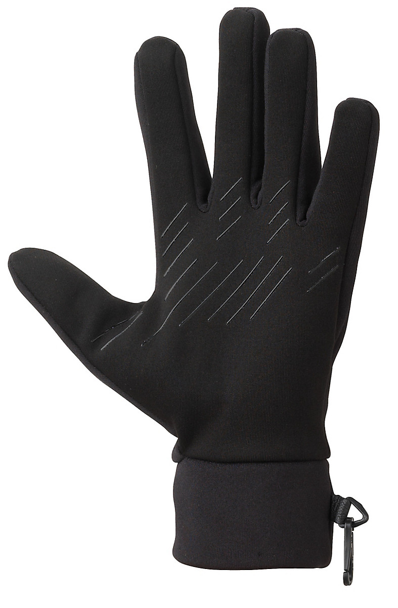Mens fleece gloves xxl - Connect Stretch Glove Black Medium