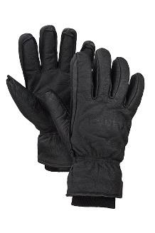 Men's Basic Ski Gloves, Black, medium