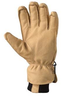 Men's Basic Ski Gloves, Tan, medium