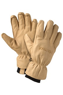 Men's Basic Ski Gloves, Tan, medium