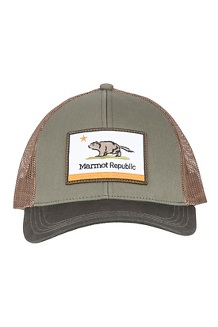 Marmot Republic Trucker Hat, Crocodile/Rosin Green, medium