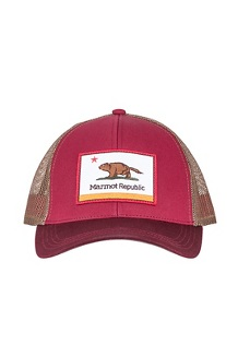 Marmot Republic Trucker Hat, Brick/Burgundy, medium
