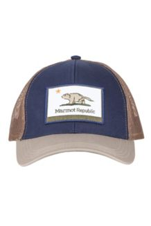 Marmot Republic Trucker Hat, Vintage Navy/Light Khaki, medium