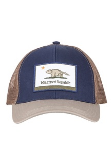 Marmot Republic Trucker Hat, Vintage Navy/Light Khaki, medium