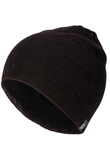 Men's Lightweight Merino Beanie, Black, medium
