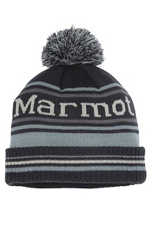 Men's Retro Pom Hat, Dark Steel/Grey Storm, medium