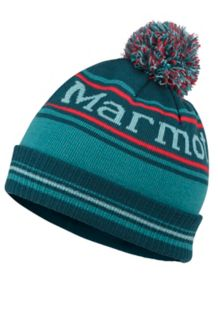 Retro Pom Hat, Deep Teal, medium