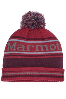 Men's Retro Pom Hat, Brick/Fig, medium