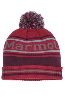 Retro Pom Hat, Brick/Fig, medium