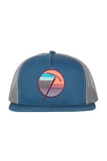 Marmot Trucker Hat, Denim/Pond Green, medium