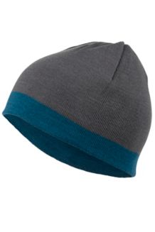 Reversible Retro Beanie, Steel Onyx/Denim, medium
