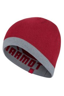 Reversible Retro Beanie, Grey Storm/Brick, medium