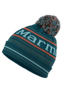 Boy's Retro Pom Hat, Deep Teal, medium
