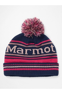 Kids' Retro Pom Hat, Arctic Navy/Very Berry, medium