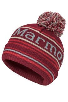 Boy's Retro Pom Hat, Madder Red, medium