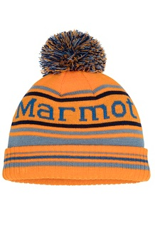 Kids' Retro Pom Hat, Ember/Blue Granite, medium