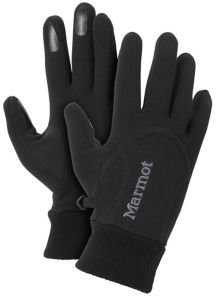 Women's Power Stretch Glove, Black, medium
