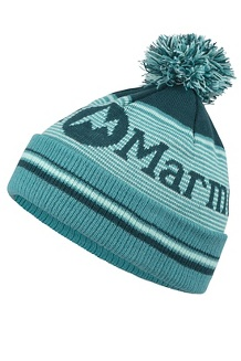 Wm's Foxy Pom Hat, Deep Teal/Patina Green, medium