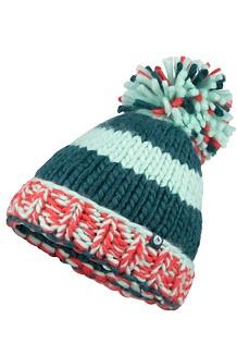 Women's CC Girl Hat, Deep Teal/Scarlet Red, medium