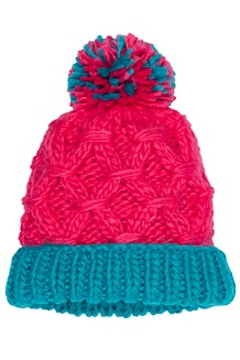 Girls' Harper Hat, Disco Pink/Blue Tile, medium