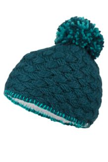 Girl's Denise Hat, Deep Teal, medium