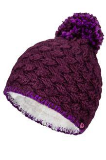 Girl's Denise Hat, Dark Purple, medium