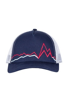 Peak Bagger Cap, Vintage Navy/Sienna Red, medium