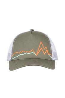 Peak Bagger Cap, Crocodile/Mandarin Orange, medium