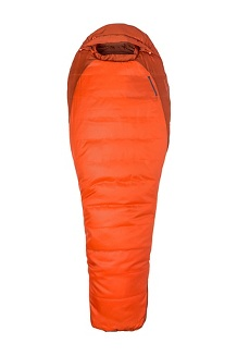 Trestles 0 Sleeping Bag - Long, Orange Haze/Dark Rust, medium