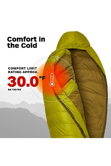 Hydrogen 30° Sleeping Bag - Long, Dark Citron/Olive, medium