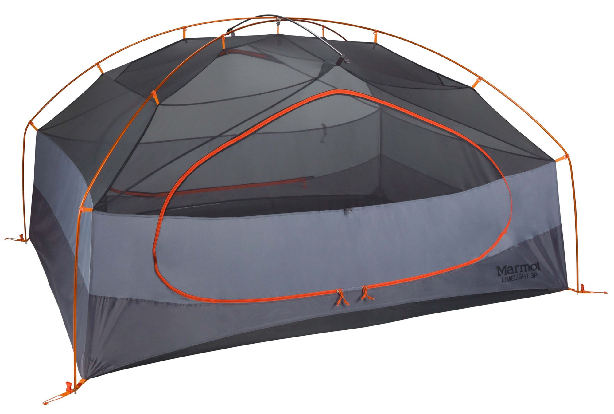Limelight 3-Person Tent, Cinder/Rusted Orange, large