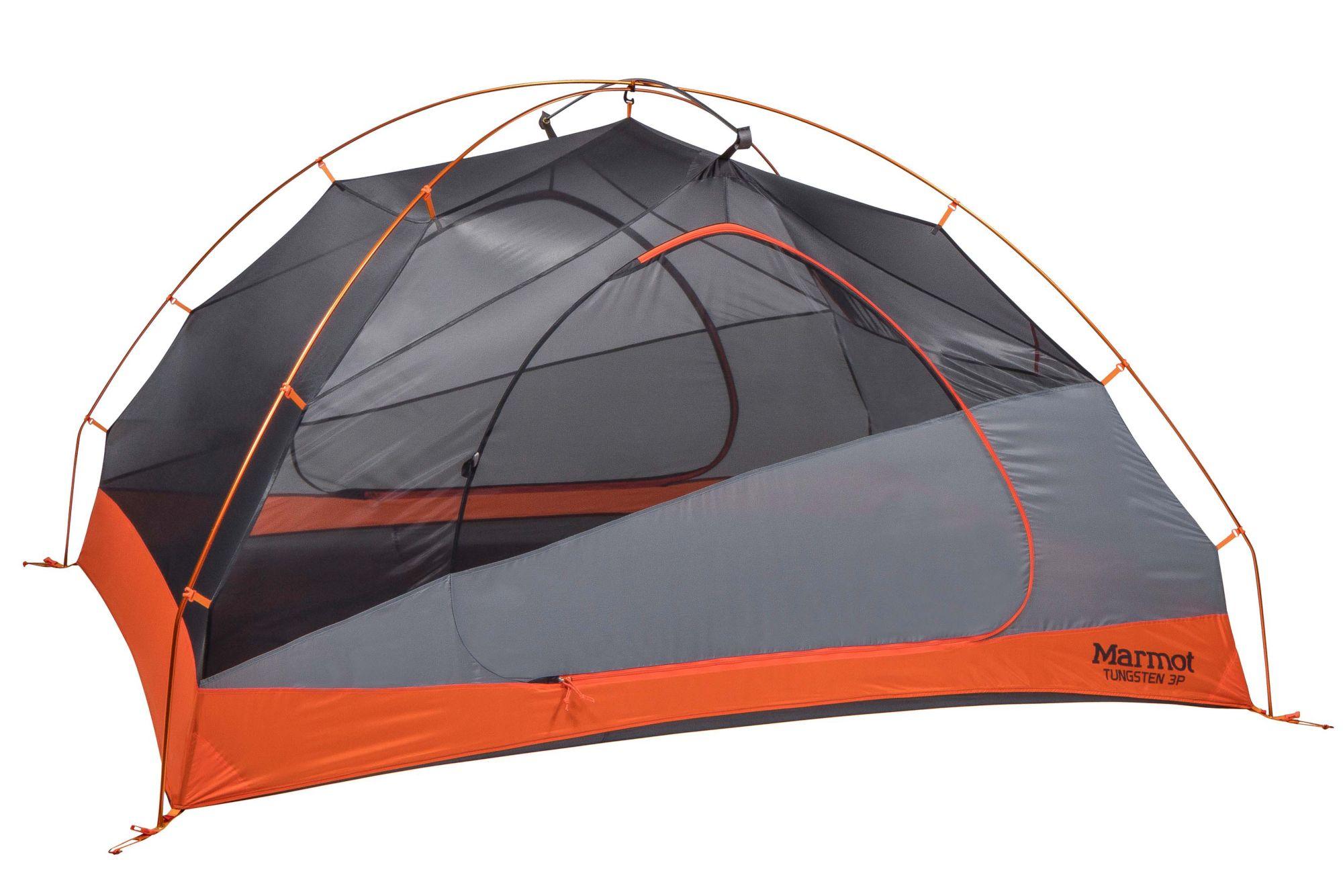Tungsten 3-Person Tent, Blaze/Steel, large