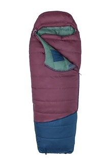 Argon 25° Sleeping Bag - Short, Burgundy/Total Eclipse, medium