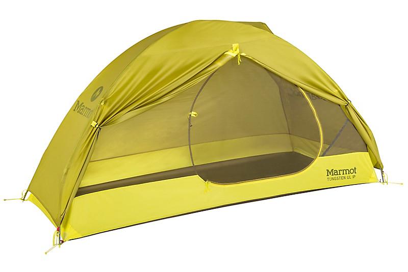 Marmot Tungsten UL trekking tent ultralight tent absolutely waterproof Dark Citron//Citronelle camping tent
