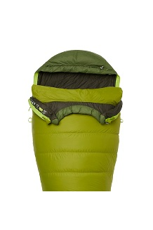Never Winter 30° Sleeping Bag - Long, Cilantro/Tree Green, medium