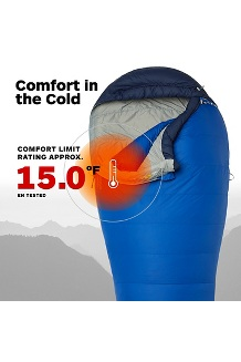Sawtooth 15° Sleeping Bag, Surf/Arctic Navy, medium