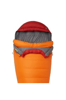 Never Summer 0° Sleeping Bag, Tangelo/Auburn, medium